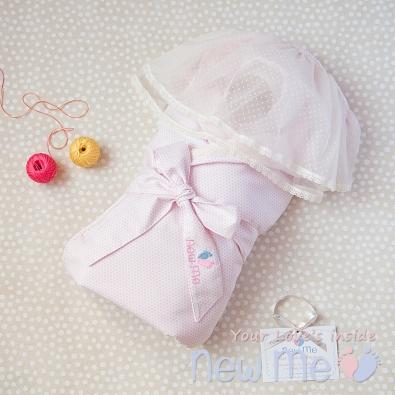 Комплект на выписку Розовый Горох