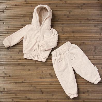 Курточка и брюки велюровые, на подкладке