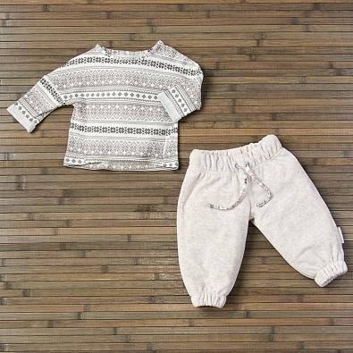Лонгслив и брюки велюровые